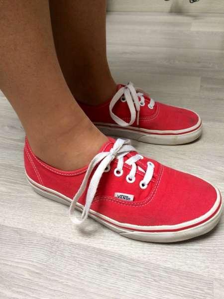 Vans authentic rouge (chaussures très odorantes) acheter et vendre ...