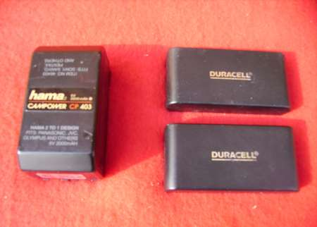 LOT DE 3 BATTERIES LONGUES DUREES POUR CAMESCOPES