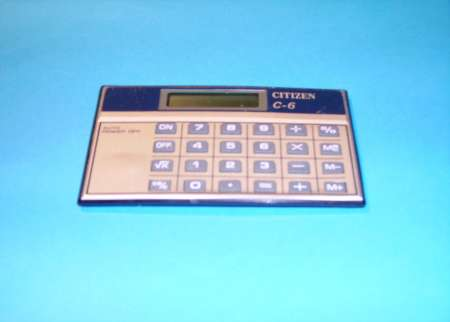 CALCULATRICE « Citizen »