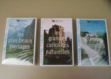 LOT DE 3 CASSETTES VHS « Splendeurs naturelles d'E