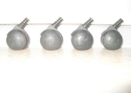 Roulettes en plastique  4
